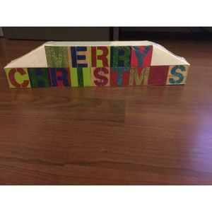 NW MERRY CHRISTMAS BLOCK SIGN